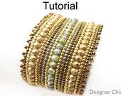 Beading Tutorial Pattern - Beaded Bracelet - Herringbone Stitch - Simple Bead Patterns - Designer Chic Bracelet #19143