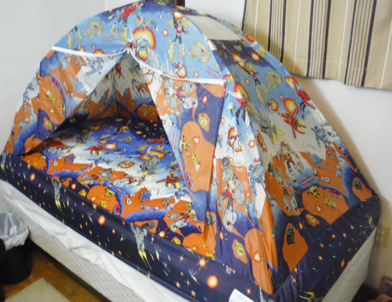 Vintage 80 S Transformers Camp N Sleep Kids Bed Tent