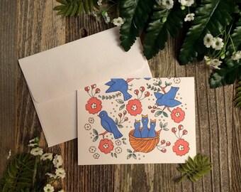 Bird Song Single Greeting Card