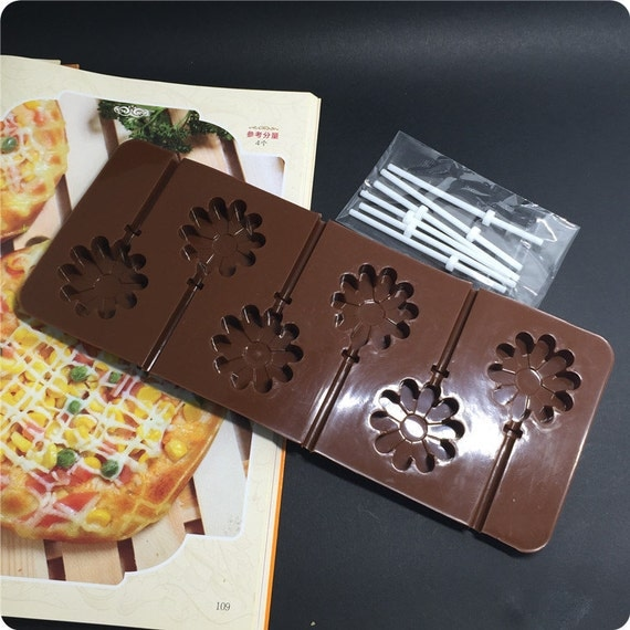3d daisy sunflower chocolate pop lollipop mold cake baking for 3d printer cake decoration