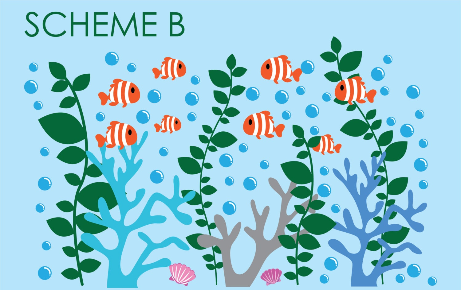 Coral Reef Decals Coral Wall Decal Under the Sea Decals