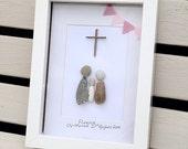 Pebble Art. Christening Pebble Art. Baptism Pebble Art. Baptism Gift. Baptism Keepsake. Baptism Picture Gift