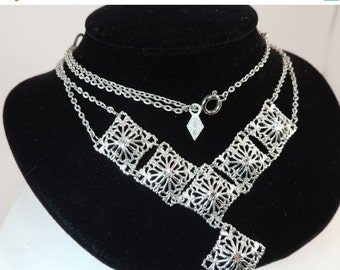 SAVE-A-LOT Sale Sarah Coventry Open Work Two Strand Necklace Vintage Jewelry