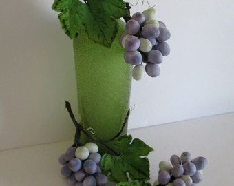 wine bottle cake topper grapes sugar edible