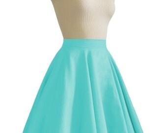 JULIETTE Teal Rockabilly Swing Rock 'n Roll Skirt//Full Circle Black Skirt//Retro Mod 50s style Skirt//Party Skirt XXS-3X