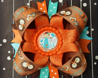 Fall is Fab Inspired stacked layered hair bow