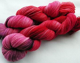 Handpainted Knitting Yarn,Sock Yarn, 75 Wool SW, 25 Nylon 100g 3.5 oz.  Nr. 349