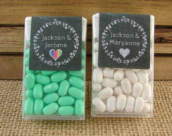 Personalized Tic Tac Favors - Chalkboard Laurel & Heart Design - Wedding Favors - Mint to Be - Any Occasion - clh1