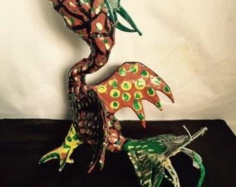 Vintage Linares Family Oaxacan Paper Mache Bird Alebrije