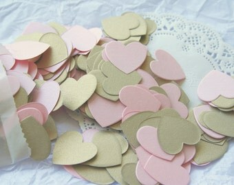 Wedding Party Confetti, SHIMMERY PINK & GOLD
