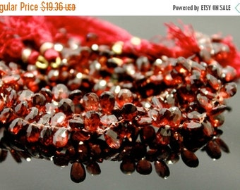 sale AAA red pyrope garnet gemstone briolette- January birthstone faceted garnet pear briolette- set of 20 PCs-6-8 mm No.642