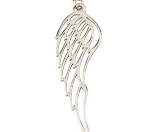 Sterling Silver Angel Wing Necklace,  with chain