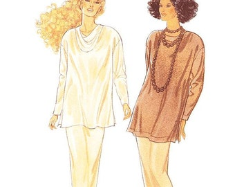 Style Dress Pattern 2336 - Misses' Loose Fitting Tops and Slim Skirt - Sz 8 thru 18