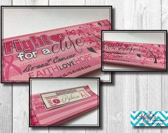 Breast Cancer Awareness Candy Bar Wrappers (5.375 x 5.25)