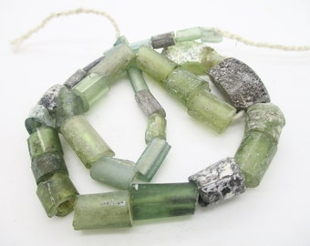 Stunning  Genuine Ancient Afghan Glass beads with Natural hole Thousands years old G79