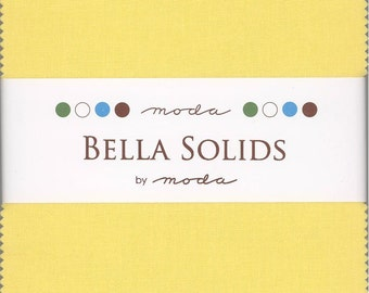 Bella Solids 30's Charm Pack, Set of 42 5-inch Precut Cotton Fabric Squares (9900PP-23)