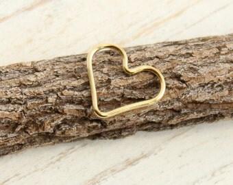 Gold Filled Heart Link -- 1 Piece... HBGF540
