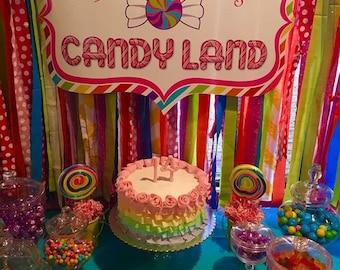 One dozen Candyland theme sugar cookies
