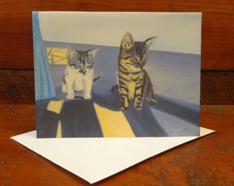 Where did it go?: Folded Blank Note Card, Stationary