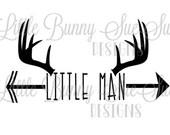 Deer Antler Little Man SVG PNG DXF Cutting Machine File, Silhouette Design, Cricut File, TShirt Design