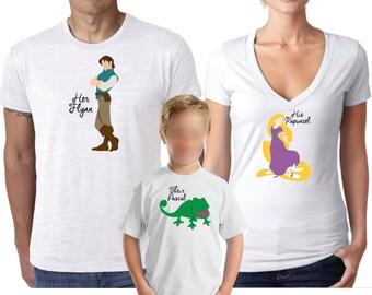 Disney Shirt, Family Shirt, Couples Shirt, Tangled Shirt, Rapunzel Shirt, Family Shirt Pack, Flynn Rider, Pascal