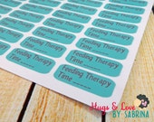 Feeding Therapy Planner Sticker - Size Customize-able