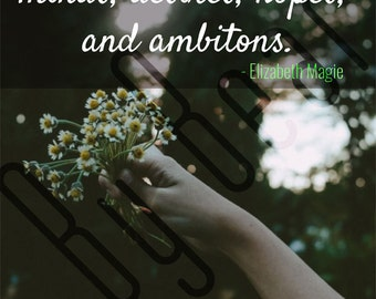 """Quote Print: """"Girls have minds, desires, hopes, and ambitions"""" - Elizabeth Magie - 8.5 x 11 / 8 x 10 / 2550x3300 px"""