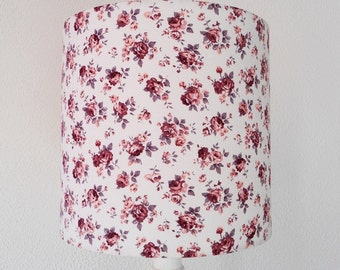 Floral lampshade, Drum floral lampshade