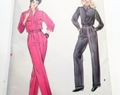 """1980s Jumpsuit coverall work mechanic suit sewing pattern size 12 14 Bust 34 36"""" Vogue 8810"""