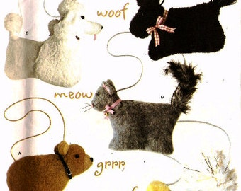 Simplicity 4376 Animal Bags Sewing Pattern