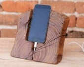 iPhone 6 Stand i6 Dock Wood Wooden iPhone 6s Docking Station Elm wood iPhone Dock Wooden iPhone holder Woodwork