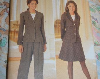 Butterick 4260 Misses / Misses Petite Jacket Skirt and Pants Sewing Pattern - UNCUT - Sizes 14 16 18