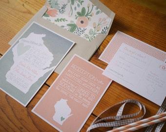 Printable Wedding Additional Information Card - Wisconsin Theme