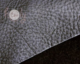 """Excellent quality genuine black cow leather 12"""" x 12"""" with a thickness of 1.6 mm, Leather Hides, Leather Supplier, Black Leather Piece, Hide"""