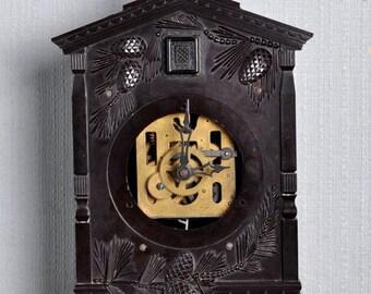 SALE - Cuckoo Clock - Skeleton Clock ,Working Clock, Soviet clock ,Russian clock ,Mechanical clock , Cuckoo Clock