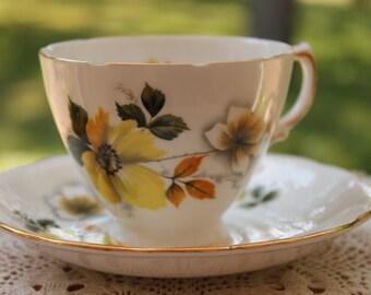 ROYAL VALE Bone China Teacup and Saucer Set Pattern Number 8221