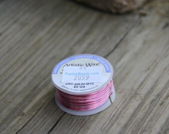 20g Rose Pink Colored Copper Wire Artistic Wire 6 yards 5.49 meters Color is Off