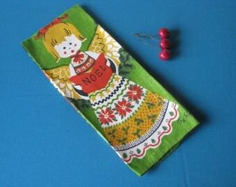 Linen Christmas Dish Towel - Angels - Fallani & Cohn - Unused - Pristine -  Vintage 1960's