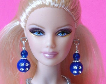 Barbie Doll JEWELRY - Blue Sapphires and Diamonds Jewelry Set fits Model Muse and more - by dolls4emma