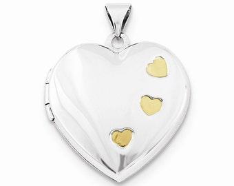 Sterling Silver w/Gold-plating Heart Locket