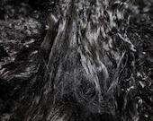 5 x 5 piece EBONY BLACK Tibetan lambs wool ooak doll hair fairy making soft beautiful fur