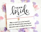 Team Bride Wish String Bracelet Card Hen Party Bachelorette Favors Gifts Star Charm