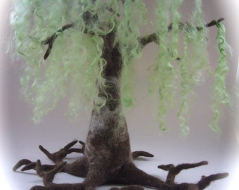 Felted Weeping birch. Tree.Waldorf. Wet Felted.