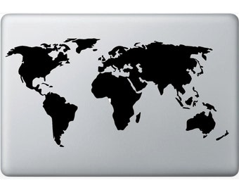 World Map Vinyl Decal
