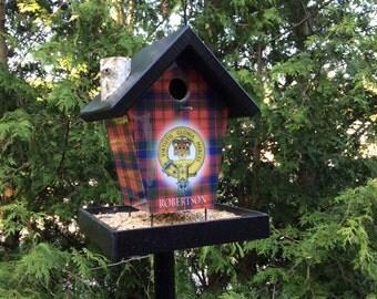Robertson Crest & Tartan Bird Feeder