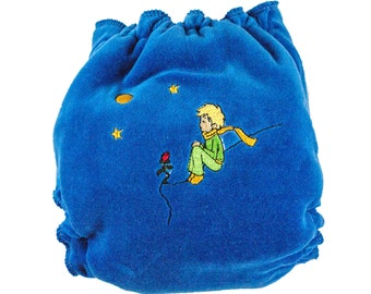 Hybrid fitted, fitted cloth diaper, fitted diaper, little prince diaper, cloth diaper, one size cloth diaper
