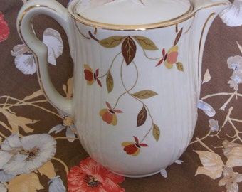 Hall China Autumn Leaf Coffee Pot with Lid Jewel Tea