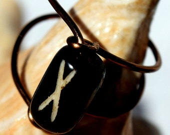 "Wire Ring, Antique Brass Ring, ""x"", Jewelry, Customizable"