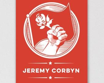 Jeremy Corbyn for Labour Leader - UK Politics Labour Party Poster Art Print - ALLRIOT