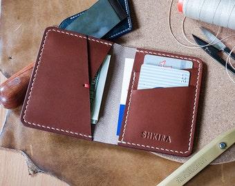 Bifold Wallet Almond Veg Tan Leather